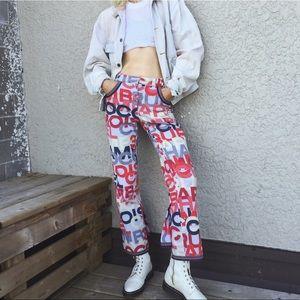 Vintage CHANEL Flare Pants Y2K